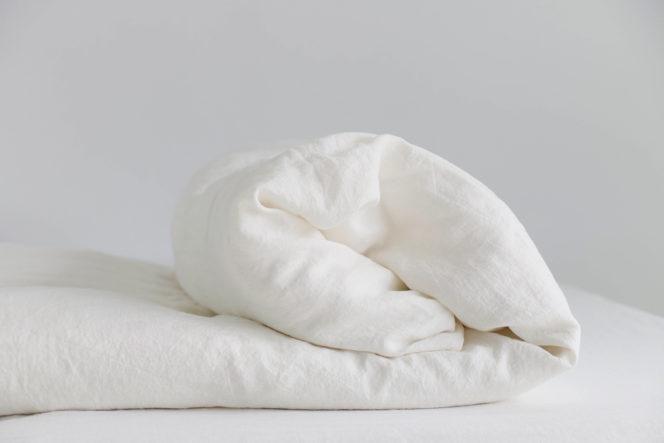Poszewka na kołdrę mleczna biel
