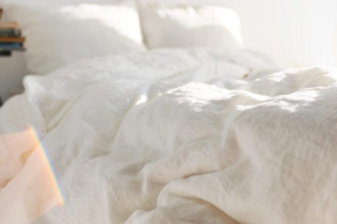 Mleczno-biały komplet pościeli