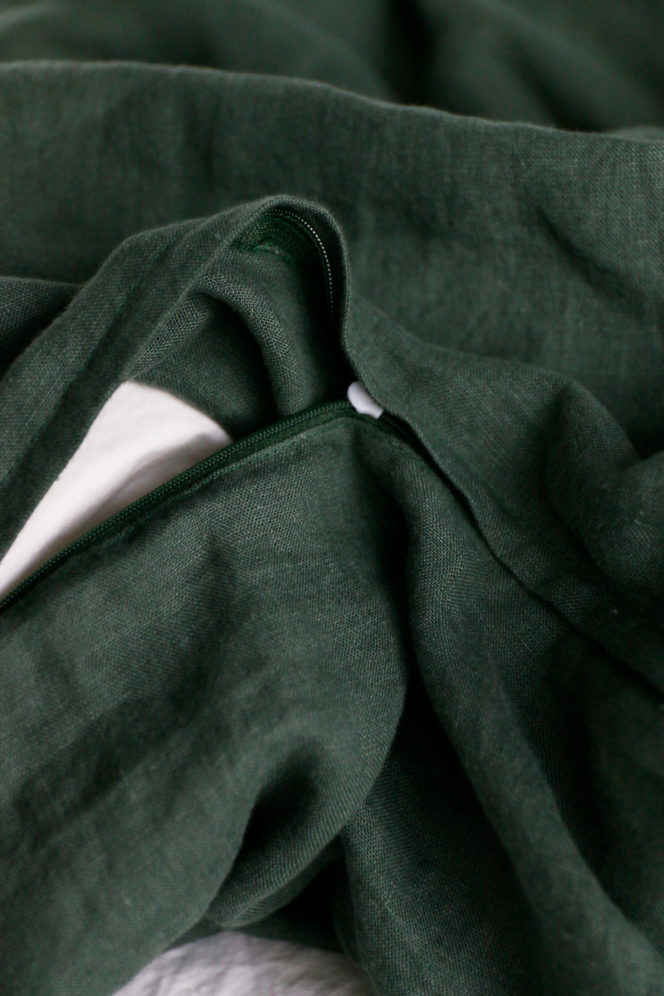 Komplet pościeli w kolorze zielonym