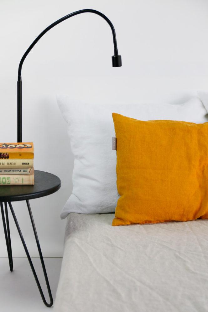 Poszewka na poduszkę – musztarda i len