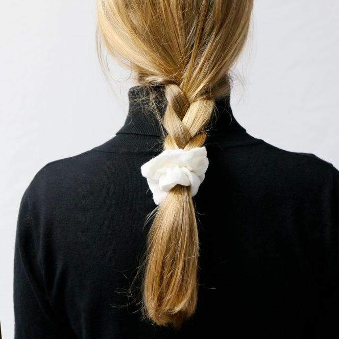 Gumka do włosów śnieżno-biała