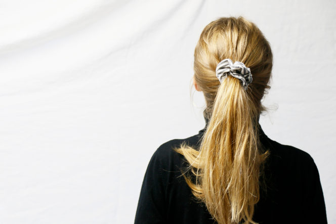 Gumka do włosów wzór w paski