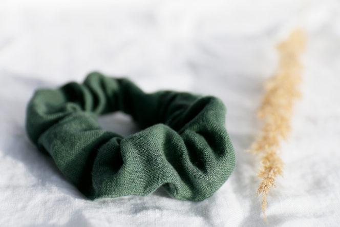 Gumka do włosów emerald green