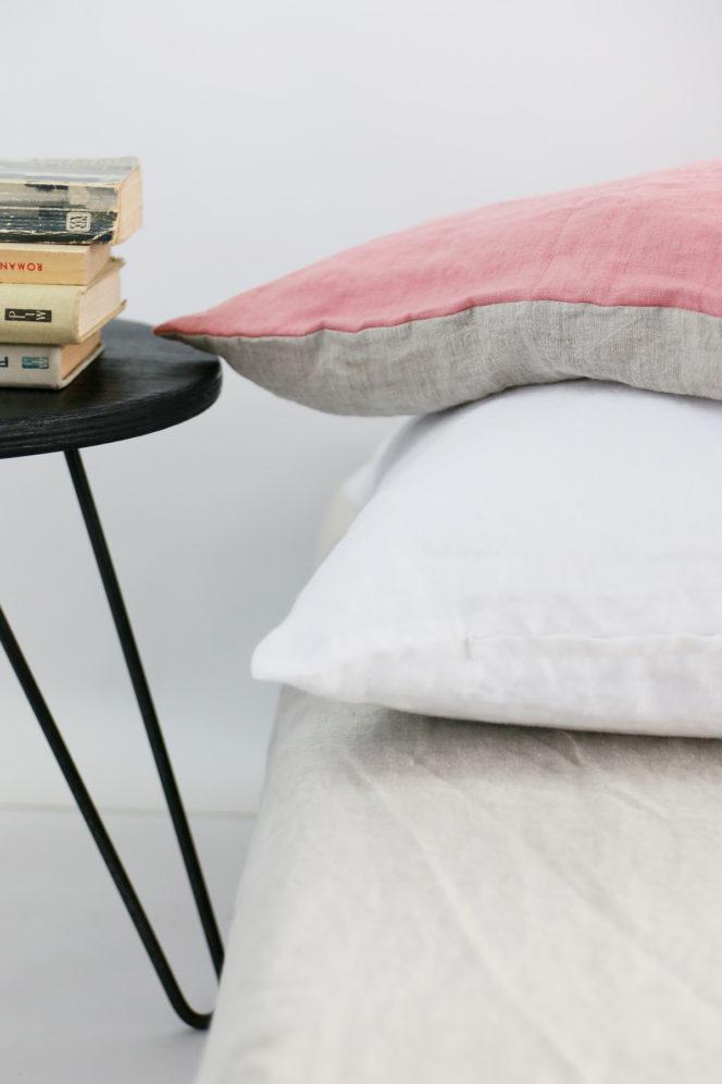 Poszewka na poduszkę w kolorze jasny róż