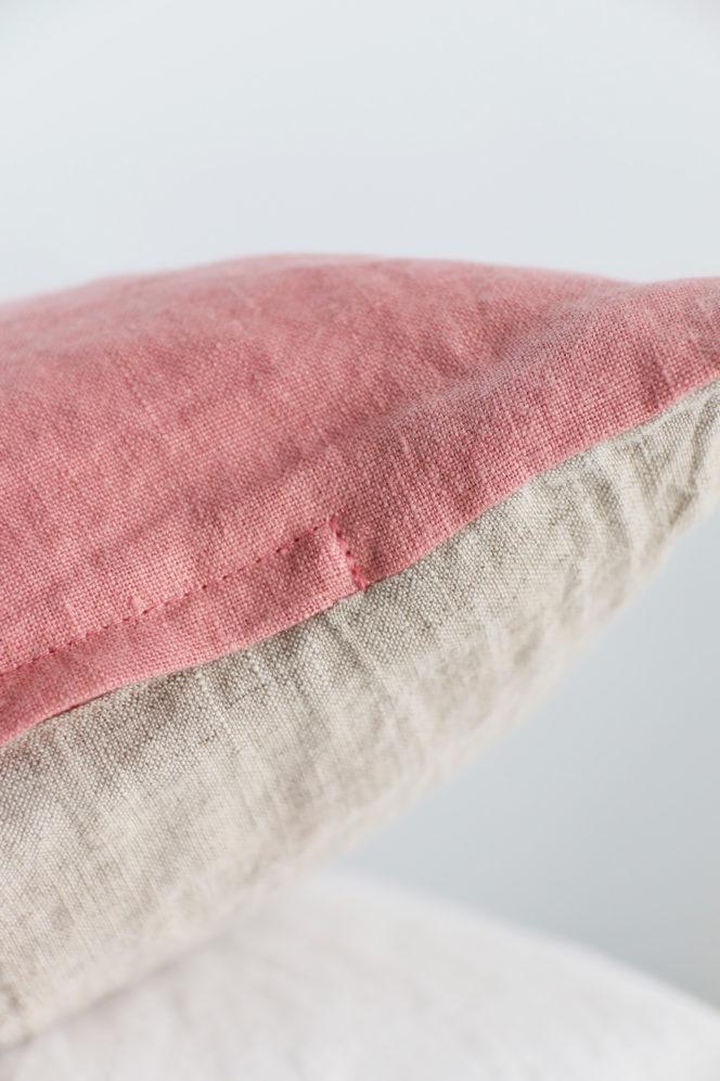 Poszewka na poduszkę jasno różowa