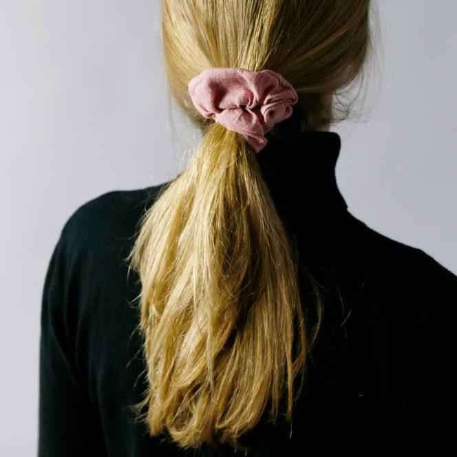 Gumka do włosów jasno różowa