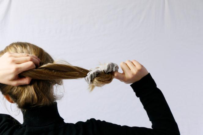 Gumka do włosów z naturalnego lnu