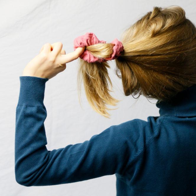 Gumka do włosów dusty rose